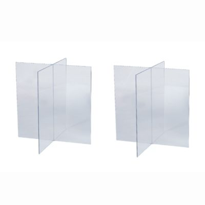 clear acrylic casket supports