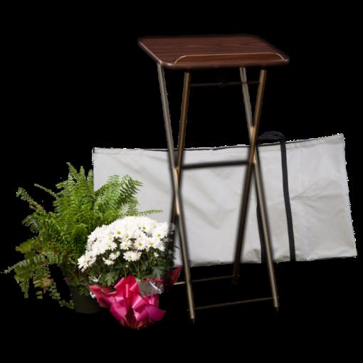 folding register stand