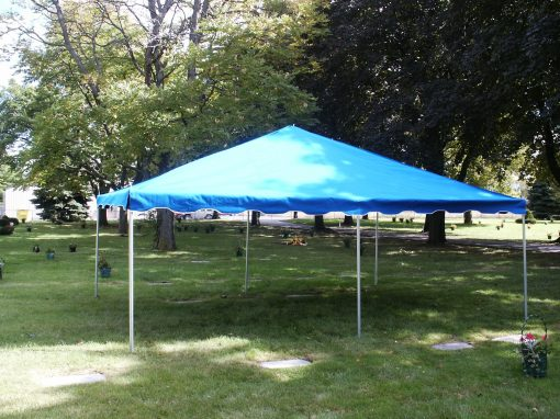 cemetery funeral tent