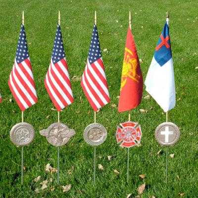 veteran grave flag holders