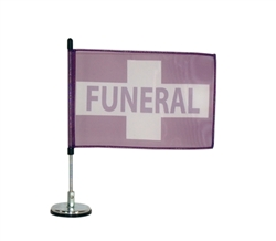 magnetic funeral flag
