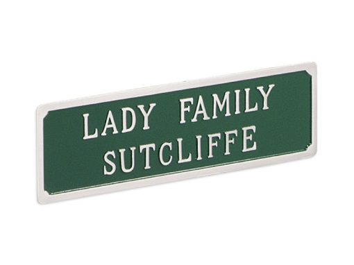 casket carriage name plate