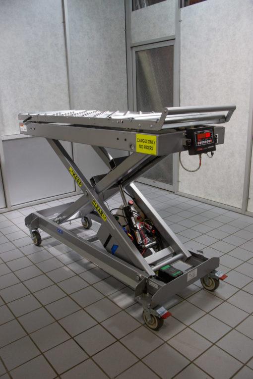 casket hydraulic lift table