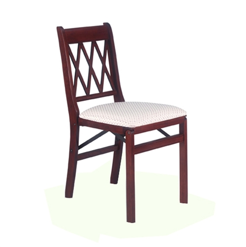 home chapel furniture chairs stakmore lattice back folding chair