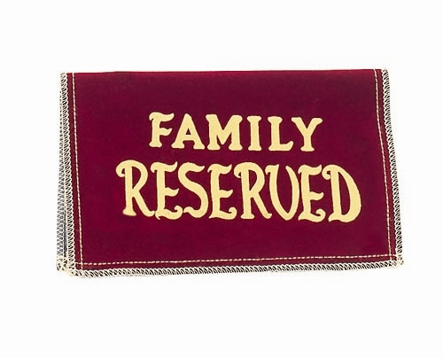 chapel reserved sign