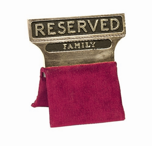 funeral reserved sign