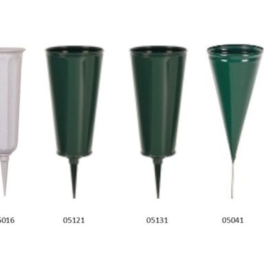 cemetery stake vases