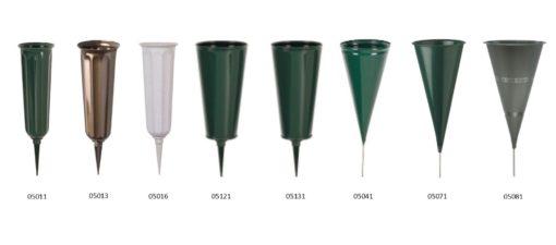 cemetery stake vases
