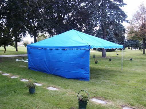 cemetery tent side wall