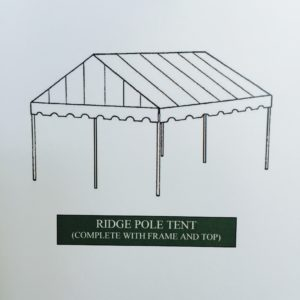 ridge pole cemetery tent