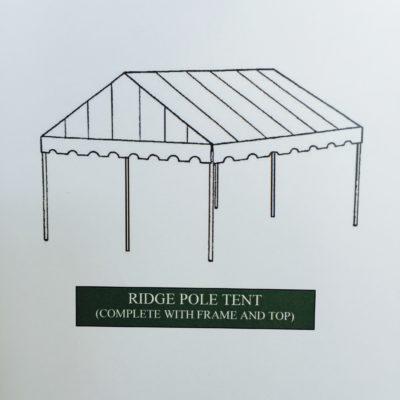ridge pole cemetery tent