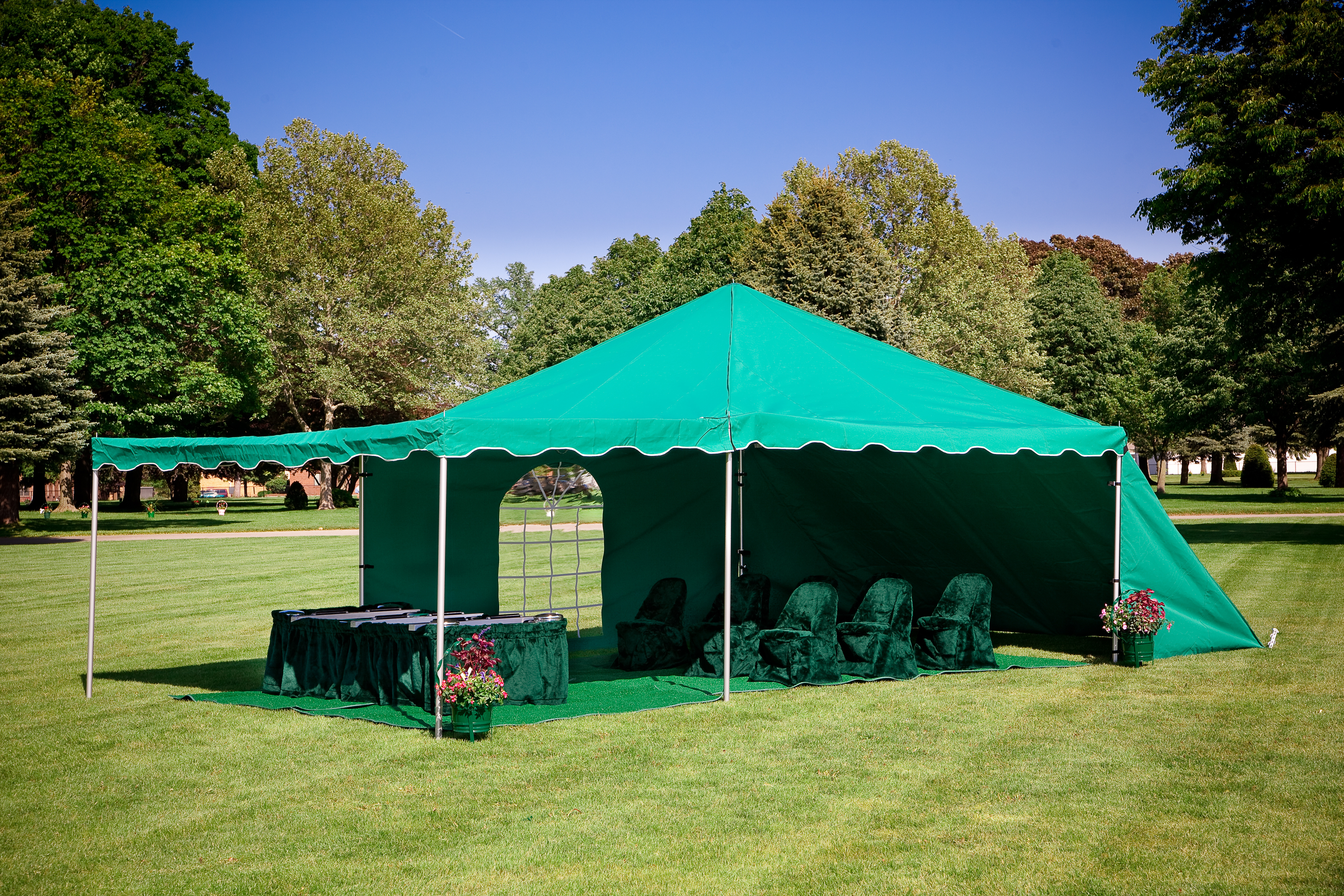 funeral tent graveside