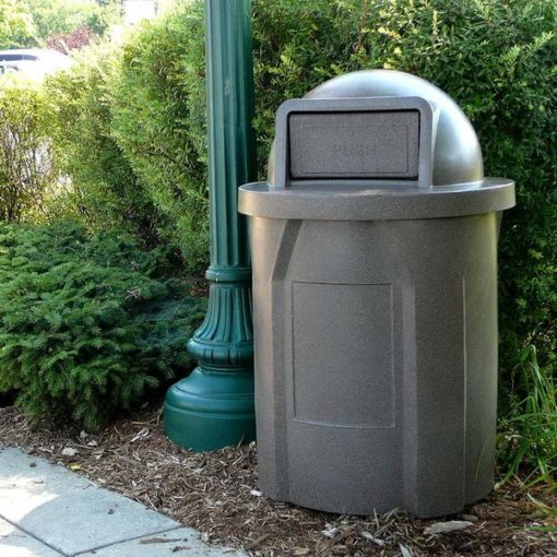 cemetery waste receptacle