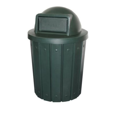 cemetery trash container