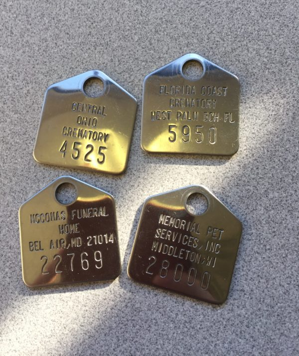 cremation tags