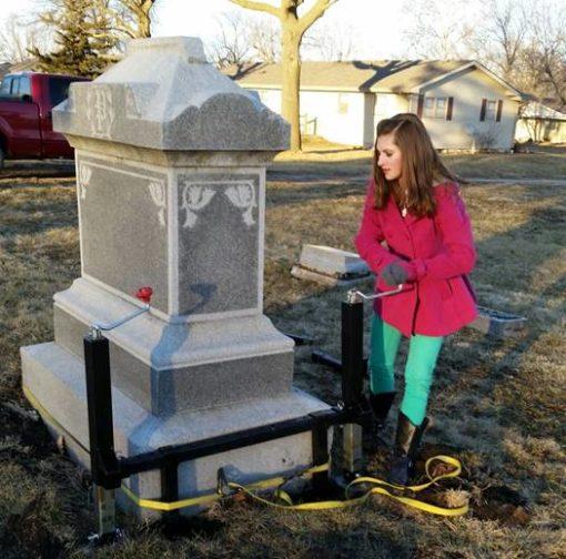 tombstone jack monument leveling
